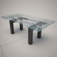 3d model smart leather dining table