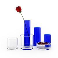 rose vase set 3d max