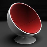 3d sphere chair model