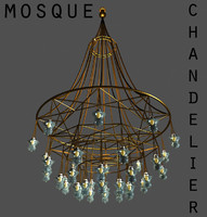 3ds max mosque chandelier