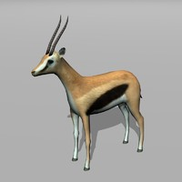 3d model thomson gazelle