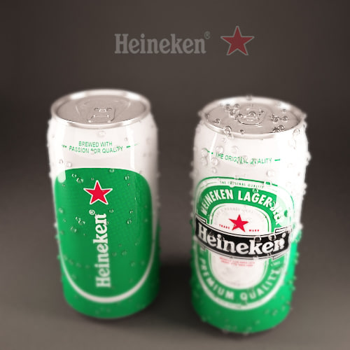 3d model green beer cans