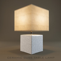 Ceramic Cube Table Lamp