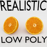 REALISTIC ORANGE (LOW POLY)