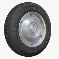 3d wheel motor scooter rim
