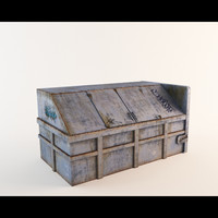 3d fbx garbage dumpster dirty