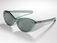sun glasses vintage 3d model