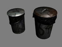 3ds max garbage barrels