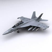 3d super hornet fighter ea-18g model