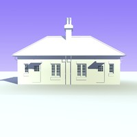 semi detached bungalow houses c4d