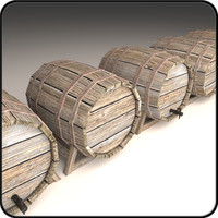 Wooden Barrel 03