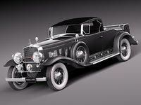 cadilac cadillac 1930 luxury 3d c4d