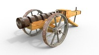 3d model of chamber cannon