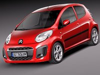 citroen c1 2013 city car 3d 3ds