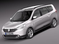 3d dacia lodgy 2012 van model