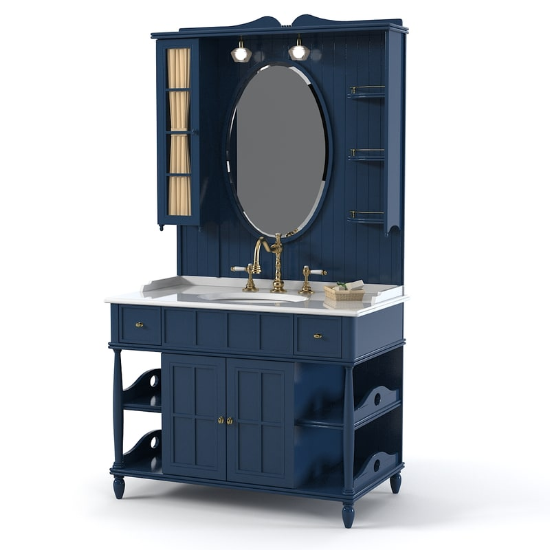 Eurodesign Green&Roses bathroom furniture cabinet lavatory vanity 0001.jpg
