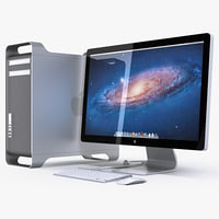 apple mac pro led 3d c4d