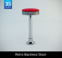 maya retro backless swivel stool bar