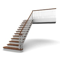 wooden staircases 3d model