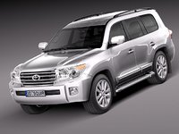 3d toyota landcruiser land cruiser model