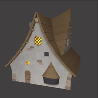 3d model magic house building