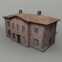 3d obj apartment building