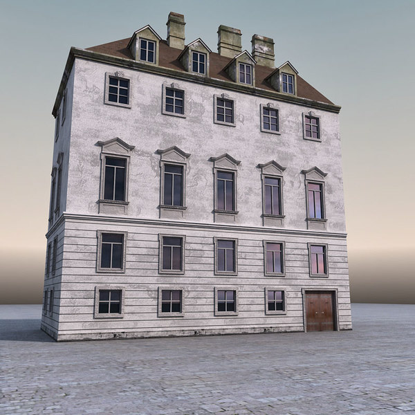 european building europe 3d model - European Building 003... by 3DMarko