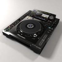 pioneer cdj 2000 turntable 3d model