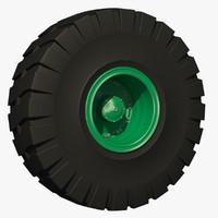 combine tractor wheel rim 3d c4d