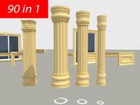 3d model exterior decor