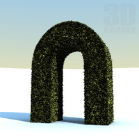 3d model of hedge arc