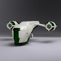 3d space gunship
