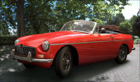 mgb car 1967 obj