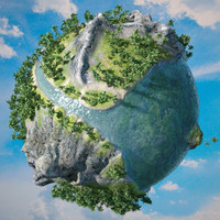 3ds max planet sea rivers