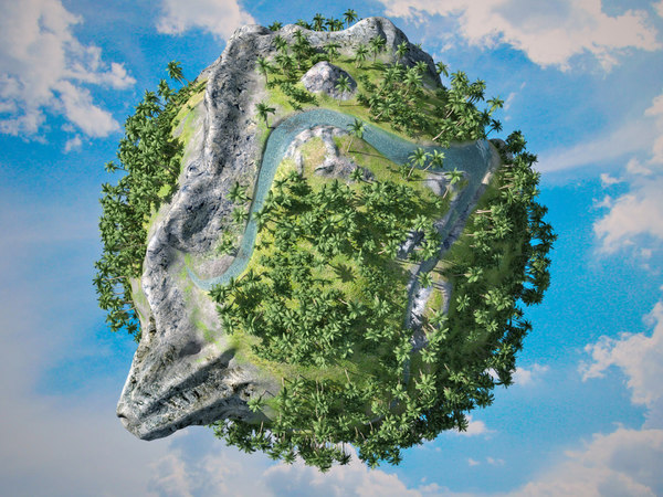 3ds max planet sea rivers - Small planet... by hoogun