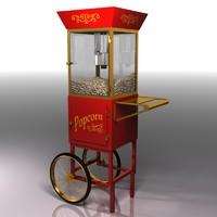 3d model popcorn cart