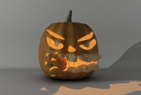 3d holiday pumpkin