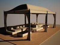 tent sofas exterior 3d max