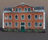 building exterior modeled max