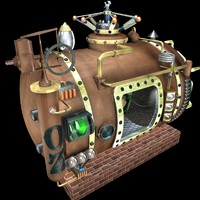 cinema4d steampunk boiler