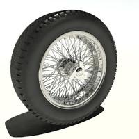 wheel tyre 3d max