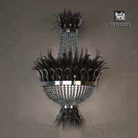 3d model of visionnaire bird sconce