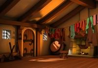 house seven dwarfs architectural scene 3d 3ds