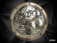 lange watch mechanism wristwatch 3d max