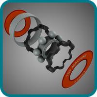 free c4d model bearing