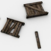 3d model wood wooden crate