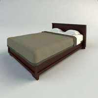 3d model wood bed