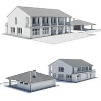3d model modern villa