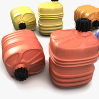Plastic Canister Barrel Textured