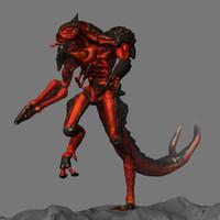 3d creature concept